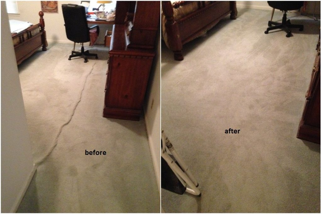rippled and buckled carpet repair