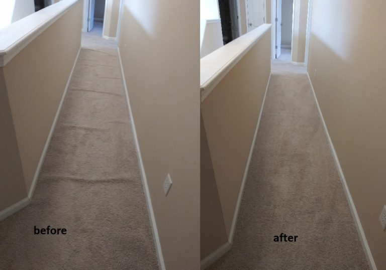 re-stretching carpet to remove buckles